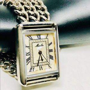 Moulin silver tone watch